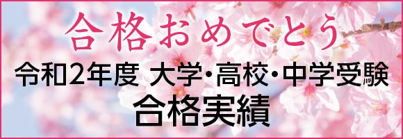 井手塾 大学・高校・中学入試 合格実績